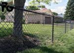 Buy cheap 1.5 Inch Metal Chain Link Fence , Black Plastic Coated Chain Link Fence from wholesalers