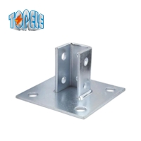 Buy cheap 4 Hole Single Channel Post Base 13/32 Unistrut Plate from wholesalers