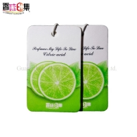 Buy cheap Scented Paper Air Freshener Customized Logo For Car Hanging from wholesalers