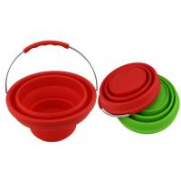 Buy cheap Wahsable Silicone Collapsible Bucket Foldable For Washing Car , Kitchen Tools from wholesalers