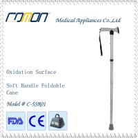 Buy cheap Aluminum Folding Cane with Soft Grip Metal Grey from wholesalers