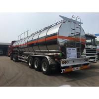 Buy cheap Oil Tank Trailer Fuel Delivery Truck Semi Trailer 45CBM Aluminium Alloy Thermal Insulation from wholesalers