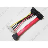 Buy cheap Right Angle 90 Degree Signal Cable , 4Pin SATA Wire Cable Rohs Compliant from wholesalers