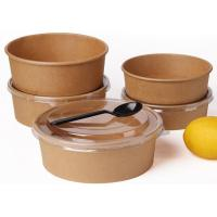 Buy cheap Disposable Kraft paper container saland bowl cup biodegradable or compostible from wholesalers