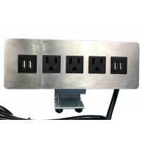 Buy cheap Edge Mount Desktop Power Outlet With USB 4 Port ,3 Outlet Power / Data Distribution Unit from wholesalers