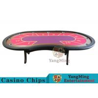 10 Seats Casino Poker Table With environmentally friendly PU leather armrest