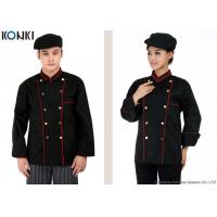 Buy cheap Professional Double Breasted Chef Jacket Black Long Sleeve For Men from wholesalers
