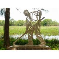 Buy cheap Stainless Steel Outdoor Metal Sculpture , Metal Figure Sculpture For Public Decoration from wholesalers