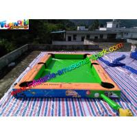 Buy cheap Double Stitch Inflatable Games Rentals Snooker Field With Full Printing from wholesalers