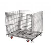 Wholesale Bright Surface 50x50 Collapsible Wire Container / Wire Storage Cages from china suppliers