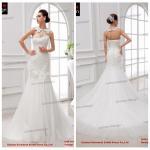 Buy cheap Elegant Real Sample Pure White Chapel Train Pleat Organza Mermaid Wedding Dress from wholesalers