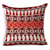 Buy cheap African National Stripe Bohemian Style Geometric Home Decorative Throw Pillow Covers Linen Ethnic Cushion Cover Case from wholesalers