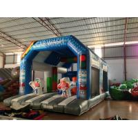Wholesale Wide Inflatable Car Wash Themed Jump House Inflatable Children Bounce With Slide from china suppliers