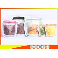 China S / M / L Size Custom Jar Stand Up Zipper Stand Up Pouch Packaging Dry Food Packing on sale