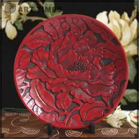 Buy cheap Decoration plate w/peonies(S) 8011 from wholesalers