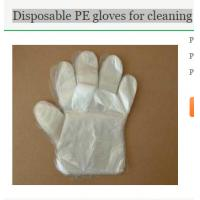 Buy cheap Disposable PE gloves for cleaning from wholesalers