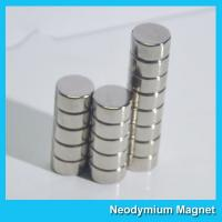 Buy cheap N35 8 X 3mm Round Ndfeb Disc Magnet / Strong Disk Magnets For Souvenir from wholesalers