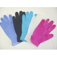 Buy cheap Colored Powder Free Nitrile Disposable Gloves For Medical / Industry Field from wholesalers