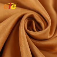 Buy cheap Abrasion Upholstery 100% Polyester Microfiber  Faux Suede Fabric 80-200GSM from wholesalers