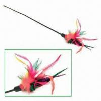 Wholesale Feather Cat Wangler Pet Toy, Measuring 10 Inches from china suppliers