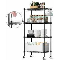 Buy cheap Durable  Commercial Wire Shelving Unit Restaurant Organizers 5 Tier Metal Storage Rack from wholesalers