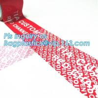 Buy cheap Security Seal anti-counterfeiting tapes void carton packing tape,Serial Number Security Sealing VOID OPEN Tape bagease from wholesalers