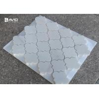 Buy cheap Lantern Shape Carrara Polished Mosaic Floor Tile Sheets 7cm Length 10mm from wholesalers