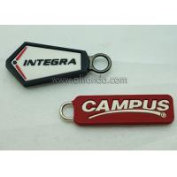 Buy cheap Wholesale Custom Embossed Name Logo Eco Friendly Soft Plastic Rubber PVC Zipper product