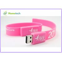 Wholesale Pink Silicon Wristband USB Flash Drive Silicon bracelets USB Flash Memory , Multi Color USB 2.0 Bracelet Memory Stick from china suppliers