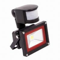 Wholesale 10W LED Floodlight with Sensor and 1,100lm Luminous Flux from china suppliers