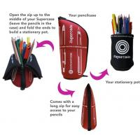 Buy cheap Cheap customized standing pencil case made of eco-friendly neoprene SBR from wholesalers