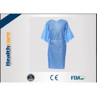 Buy cheap Multifunction 16-80G Disposable Isolation Gowns Ultrasonic Heat Seal Blue/Yellow Coats from wholesalers