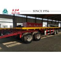 Buy cheap 10 Meter 4 Axle Truck Drawbar Trailers , Pull Trailers America Type Mechanical Suspension from wholesalers