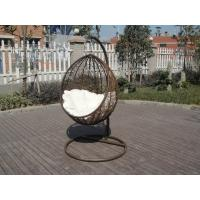 Buy cheap PE Rattan Swing Chair , Garden / Balcony Glider With White Cushion from wholesalers