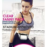Buy cheap Bagease Clear PVC Fanny Pack With Double Zipper And Adjustable Strap,Clear PVC blacpack with top zipper opening from wholesalers