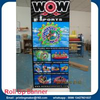 Buy cheap Deluxe Wide Base Single-screen Roll Up Banner Stands from wholesalers