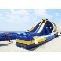 Buy cheap 3 Lanes Inflatable Giant Slide , Pool Blow Up Water Slide Massive For Beach Shore from wholesalers