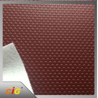 Waterproof  pu pvc leather Small Circle Design for Auto Car Floor Manufactures