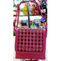 Buy cheap Rose Red Rhinestone Girls' PU Leather Shoulder Bag , Fashion Bags from wholesalers