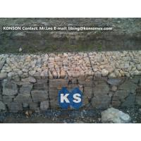 Buy cheap Heavy Galvanized Wire Gabion Basket Retaining Wall Structures / Gabion Box from wholesalers