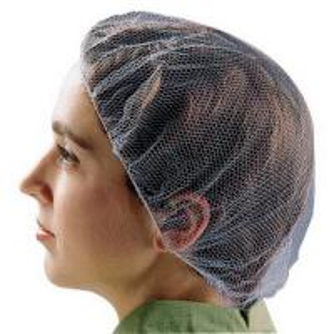 China Disposable Food Preparation Hair Nets , Cleanroom Disposable Hair Nets Food Service on sale