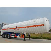 Buy cheap Stainless Steel 304 LNG Tank Truck Trailer 3 Axles with 55000L High Vacuum from wholesalers