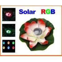 Solar Colorful LED Lotus Lamp Floating Rotating Pond Light Manufactures