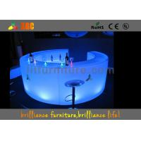Remote Control PE Led Bar Round Counter , LED Glowing Bar Furniture Manufactures