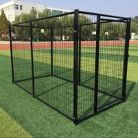 Buy cheap Welded Wire Mesh Outdoor Dog Kennel Durable Black Color Easy To Install from wholesalers