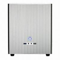 China Mini Tower Computer Case with 1 x 3.5 inches HDD and 1 x 2.5 inches HDD, Comes in Black and Silver on sale