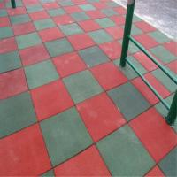 Buy cheap Outdoor rubber tiles Safety Playground Rubber Tile from wholesalers