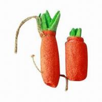 Wholesale Loofah Carrot Edible Toy for Rabbit or Guinea Pig from china suppliers