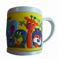 Wholesale Promotional Soft PVC Mug Cup with 258mm Circumference and 9oz Mug Capacity from china suppliers