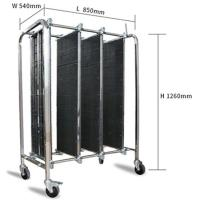 Buy cheap Stainless Steel Trolley Double Flashboard Pcb Storage Rack from wholesalers